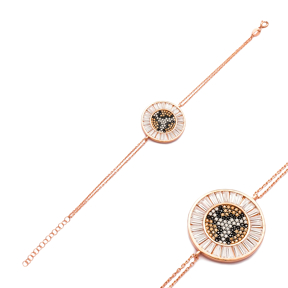 Leopard Round Silver Sterling Bracelet Wholesale Handcraft Jewelry