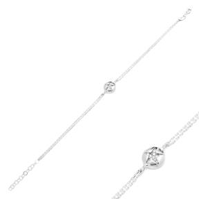 Minimalist Round Design Turkish Wholesale 925 Sterling Silver Charm Bracelet