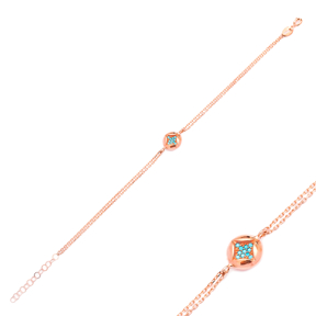 Minimalist Design Turkish Wholesale 925 Sterling Silver Charm Bracelet