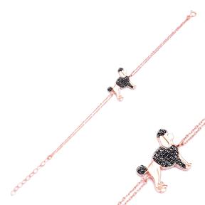 Minimalist Dog Design Turkish Wholesale 925 Sterling Silver Charm Bracelet