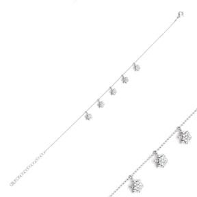 Minimalist Snowflake Silver Sterling Bracelet Wholesale Handcrafted Jewelry