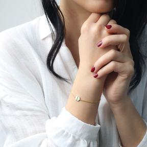 Tiny Round Charm Bracelet Wholesale Handmade 925 Sterling Silver Jewelry