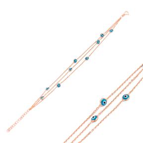 Evil Eye Design Bracelet 925 Silver Sterling Wholesale Handcrafted Jewelry