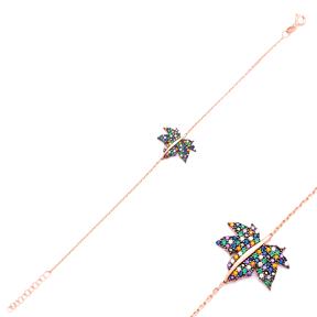 Grape Leaf Design Bracelet Handcrafted Wholesale 925 Sterling Silver Jewelry