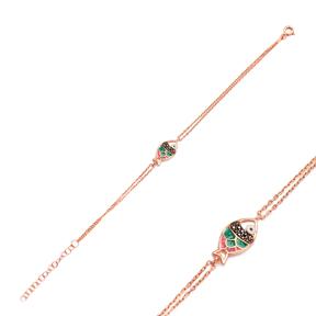 Enamel Fish Charm Bracelet Wholesale 925 Sterling Silver Jewelry