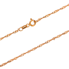 Twist Rope Rosa Plated Chain Silver Necklace
