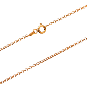 Rolo Rosa Gold Plated Chain Silver Necklace