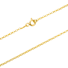 Rolo Gold Plated Chain Silver Necklace