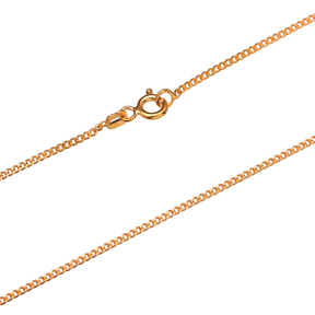 Gurmet Rosa Gold Plated Chain Silver Necklace