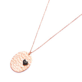Simple Modern Hammered Pendant Turkish Wholesale Sterling Silver Jewelry