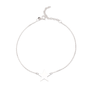 Silver Star Anklet Wholesale Handmade Turkish Jewelry