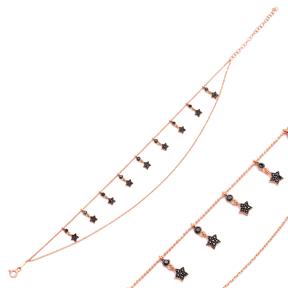 Star Design Turkish Wholesale Handcrafted 925 Sterling Silver Anklet