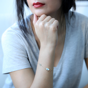 Delicate Evil Eye With Hamsa 925 Silver Sterling Wholesale Handcraft Jewelry Bracelet