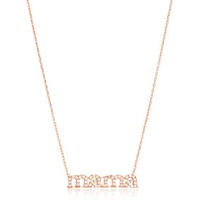 Mama Design CZ Stone Sterling Silver Jewelry Pendant
