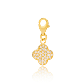 Pretty Clover Charm Wholesale Handmade Turkish 925 Silver Sterling Jewelry