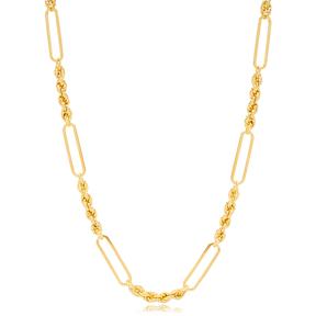 Splendid Long Chain Silver Necklace