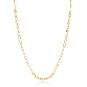 Fancy Modern Chain Silver Necklace