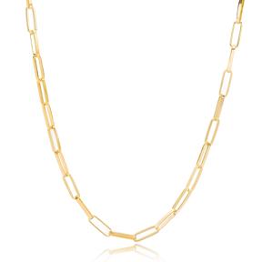 Trendy Fashion Chain Silver Necklace