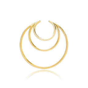 Multi Hoops Elegant Style Cartilage Single Earring Wholesale Turkish 925 Silver Sterling Jewelry