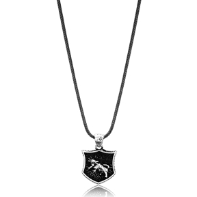 Taurus Zodiac Сharm Men Flat Curbed Chain Wholesale Handmade 925 Sterling Silver Men Necklace
