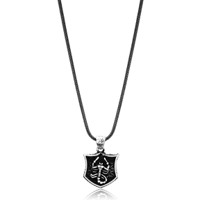 Scorpio Zodiac Charm Men Flat Curbed Chain Wholesale Handmade 925 Sterling Silver Men Necklace