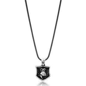 Pisces Zodiac Charm Men Flat Curbed Chain Wholesale Handmade 925 Sterling Silver Men Necklace