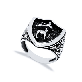 Sagittarius Zodiac Design Men Signet Ring Wholesale Handmade 925 Sterling Silver Men Jewelry