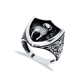 Aries Zodiac Design Men Signet Ring Wholesale Handmade 925 Sterling Silver Men Jewelry