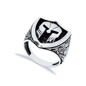 Ancient Helmet Design Men Signet Ring Wholesale Handmade 925 Sterling Silver Men Jewelry