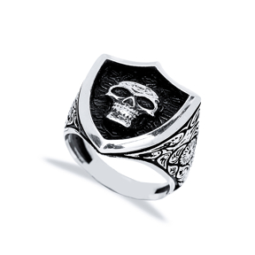 Skull Design Men Signet Ring Wholesale Handmade 925 Sterling Silver Men Jewelry