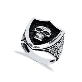 Skull Design Men Signet Ring Wholesale Handmade 925 Sterling Silver Men Jewelry