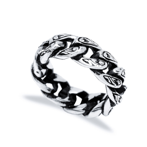 Brutal Link Chain Men Ring Wholesale Handmade 925 Sterling Silver Men Jewelry