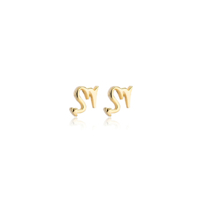 Scorpio Zodiac Mini Stud Earring Turkish Handmade 925 Sterling Silver Jewelry