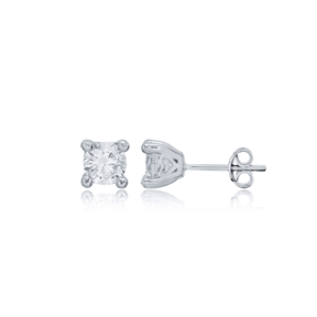 Classic Four Claw Zircon Stone Earrings Wholesale Turkish 925 Sterling Silver Jewelry