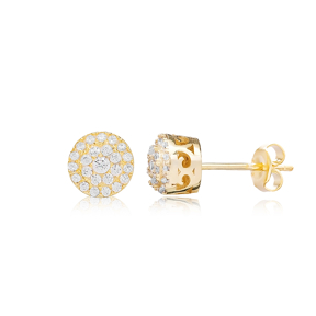 Tender Design Zircon Stud Earring Turkish Wholesale 925 Sterling Silver Jewelry