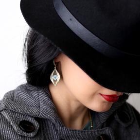 Mystic Evil Eye Dangle Earrings Turkish Wholesale 925 Sterling Silver Jewelry