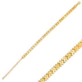 Arrow Point Plain Design Zircon Charm Bracelet Wholesale 925 Sterling Silver Jewelry