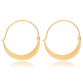 22K Gold Crescent Moon Shape Vintage Earrings Handcrafted Wholesale 925 Sterling Silver Jewelry
