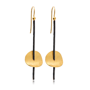 22k Gold Plated Original Stick Shape Vintage Earrings Wholesale 925 Sterling Silver Jewelry