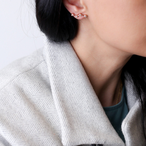Zircon Constellation Stud Earring Turkish 925 Silver Sterling Jewelry