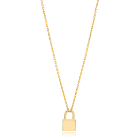 Padlock Design Charm Pendant Turkish Wholesale 925 Sterling Silver Jewelry
