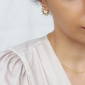 Push Back Pearl Hoop Earring Turkish Wholesale 925 Sterling Silver Jewelry