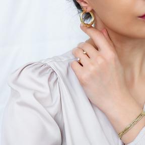 Chic Twisted Ø29 mm Hoop Earrings 925 Sterling Silver Jewelry