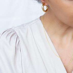 Minimalistic Ø26 mm Hoop Earrings 925 Sterling Silver Jewelry