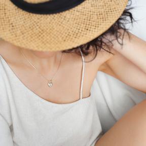Padlock Heart Shape Charm Pendant 925 Sterling Silver Jewelry