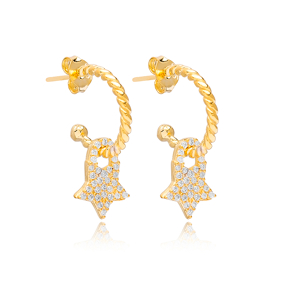 Star Shape Charm Stud Earrings Wholesale Turkish 925 Silver Sterling Jewelry