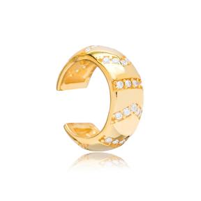 Trendy Cartilage Single Earring Turkish 925 Silver Sterling