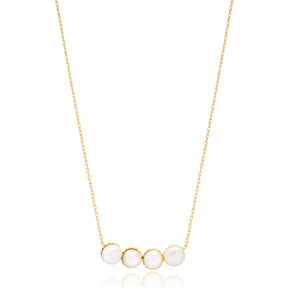 Pearl Turkish Wholesale Handcrafted Silver Necklace