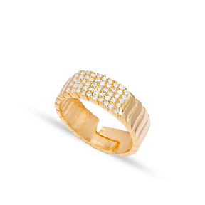 Zircon Stone Dainty Shape Adjustable Ring Turkish Wholesale 925 Silver Sterling Jewelry