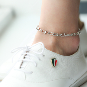 Silver Chain Anklet Wholesale Handmade Turkish 925 Sterling Silver Jewelry
